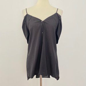 Theory Small Silk Off The Shoulder Blouse Black